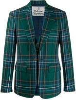 Vivienne Westwood checked single-breasted blazer