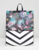 Asos Graffiti Print Backpack