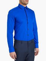 HUGO BOSS HUGO by Hugo Boss Plain Slim Fit Kenno Shirt, Blue