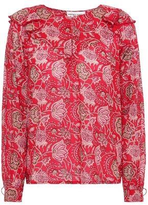 Antik Batik Jody Ruffle-trimmed Floral-print Cotton-voile Blouse