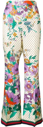 Gucci floral flared trousers