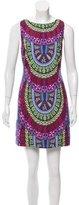 Mara Hoffman Abstract Print Open Back Mini Dress