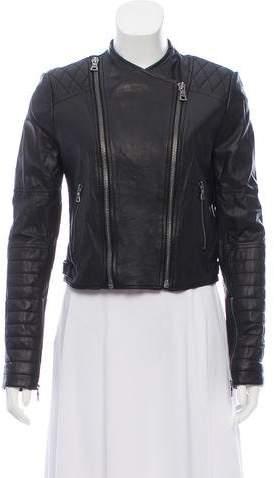 Alice + Olivia Leather Moto Jacket