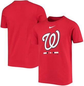 Nike Youth Red Washington Nationals Primary Logo Lockup T-Shirt