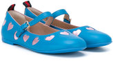 Gucci Kids - Mary-Jane heart ballerinas - kids - Leather/rubber - 28
