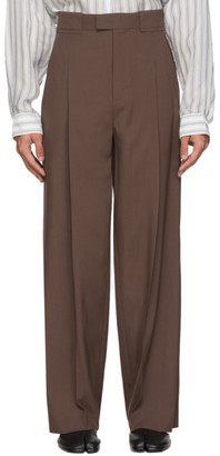 Maison Margiela Brown Extra Fine Wool Trousers