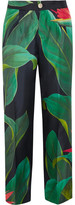 F.R.S For Restless Sleepers - Crono Printed Silk-twill Pants - Green