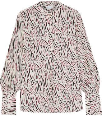 Rebecca Vallance Tigresse Printed Silk Crepe De Chine Blouse