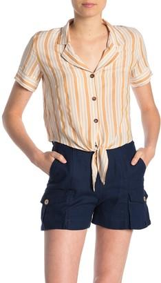 Hyfve Front Tie Striped Top