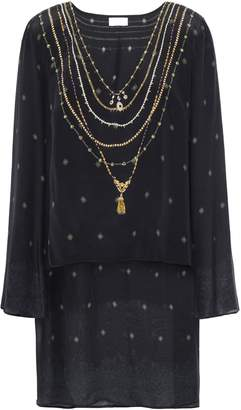 Camilla The Bodyguard Layered Printed Silk Crepe De Chine And Chiffon Tunic