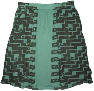Kelly Wearstler Green Silk Skirts