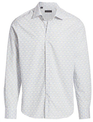Saks Fifth Avenue COLLECTION Scribbled Square Sport Shirt