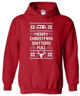 Xekia Merry Christmas Shitters Full Ugly Christmas Sweater Santa Gifts Unisex Hoodie Sweatshirt