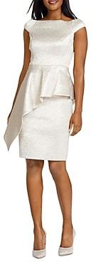 Teri Jon by Rickie Freeman Off Shoulder Jacquard Dress