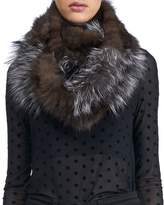 Gorski Fox & Sable Fur Infinity Knit Scarf