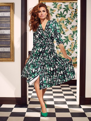 New York & Co. Brenda Palm-Print Dress - Eva Mendes Collection