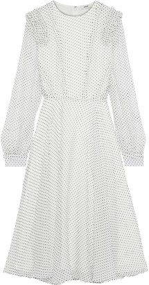Jason Wu Ruffle-trimmed Polka-dot Silk-georgette Dress