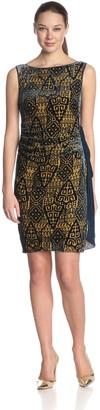 Magaschoni Women's Sleeveless Printed Dress