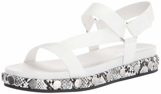 Jessica Simpson Women's Perie Flat Sandals Bright White 7.5 M US