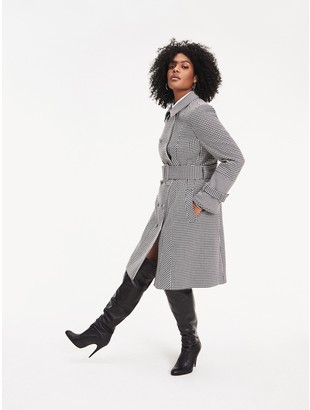 Tommy Hilfiger Zendaya Curve Houndstooth Check Trench Coat
