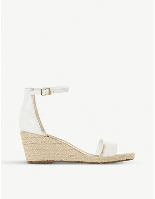 Dune Karice leather and woven sandals