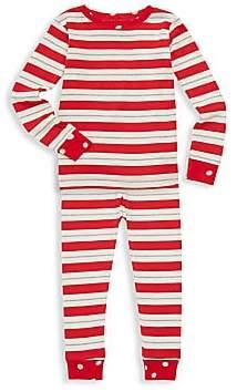 Hatley Little Girl's & Girl's Metallic Striped Holiday Top & Pants Set