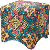 One Kings Lane Rebecca Stool, Yellow/Teal