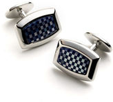 David Donahue Sterling Silver Checkerboard Cuff Links