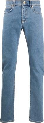 Versace Logo Patch Slim-Fit Jeans