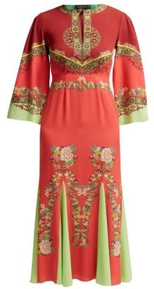 Etro Taico Printed Crepe Dress - Red Print