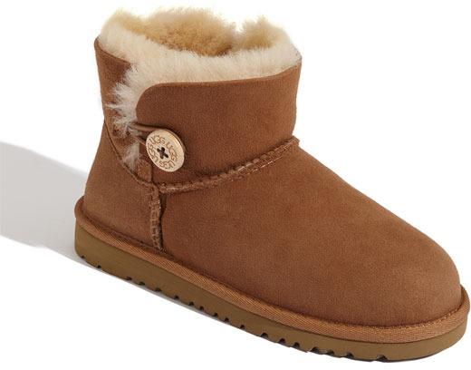 UGG 'Mini Bailey' Button Boot (Walker, Toddler, Little Kid & Big Kid)