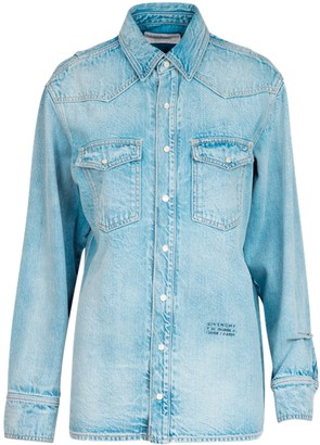 Givenchy Light Blue Denim Shirt