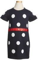 Armani Junior Girl's Knit Polka Dot Dress