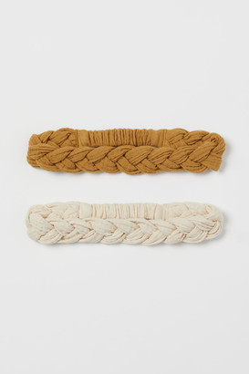 H&M 2-Pack Braided Hairbands