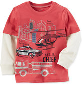 Carter's Firetruck-Print Cotton T-Shirt, Little Boys (2-7)