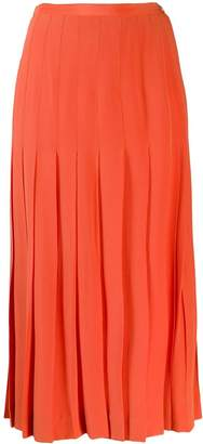 Chanel Pre-Owned pleated midi skirt