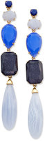 Kate Spade Gold-Tone Blue Stone Linear Drop Earrings