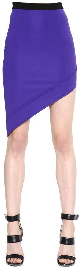 David Koma Asymmetric Stretch Jersey Skirt