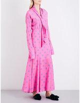 Natasha Zinko Polka dot-print silk-crepe de chine maxi dress