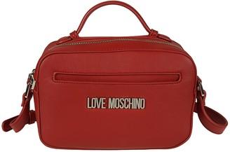Love Moschino Top Zip Logo Plaque Shoulder Bag