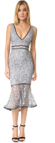 Nicholas French Lace Plunge Dress