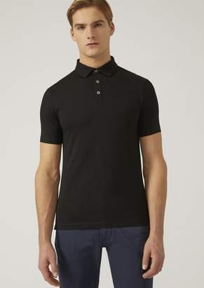 Emporio Armani Polo Shirt In Stretch Jersey