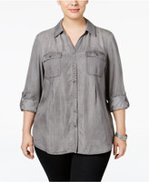 Style&Co. Style & Co. Plus Size Utility Shirt, Only at Macy's