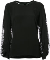 Barbara Bui sheer panel blouse