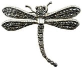 Kenneth Jay Lane Crystal & Gunmetal Dragonfly Brooch Pin