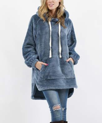 Lydiane Women's Sweatshirts and Hoodies CEMENT - Cement Fuzzy Hoodie - Women & Plus