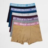 River Island MensMulticolored branded trunks pack
