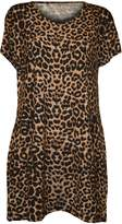 WearAll Women's Plus Size Leopard Print Short Sleeve Top - US (UK 20)