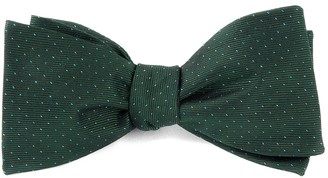 Tie Bar Flicker Hunter Green Bow Tie