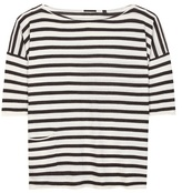 ATM Anthony Thomas Melillo Striped cashmere T-shirt